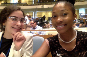 Shahrazan and I during the 10 minute intermission at the IYLA conference.